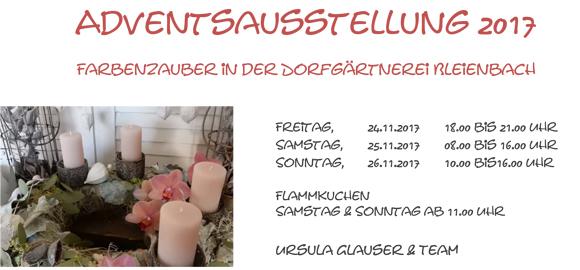 Adventsausstellung 2017, Farbenzauber in der Dorfgärtnerei Bleienbach